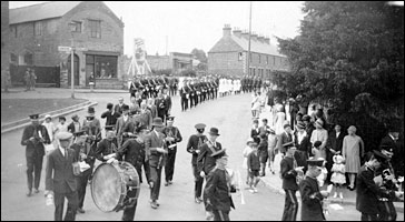 A parade in the 1920s, turning into Church Street
