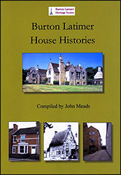 The Burton Latimer House Histories book