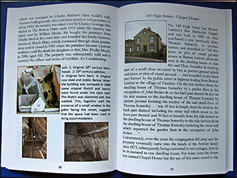 Some pages from the House Histories book