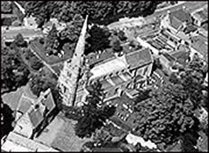 Aerial view of St Mary's Church