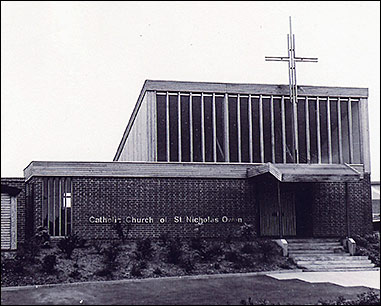 Picture showing the exterior of St Nicholoas Owen RC Church