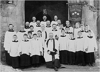 Photograph of the choir at the entrance to the church in 1894