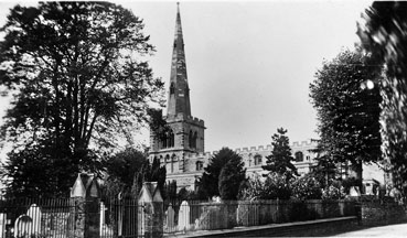 Photograph of St Mary's Church from Church Lane