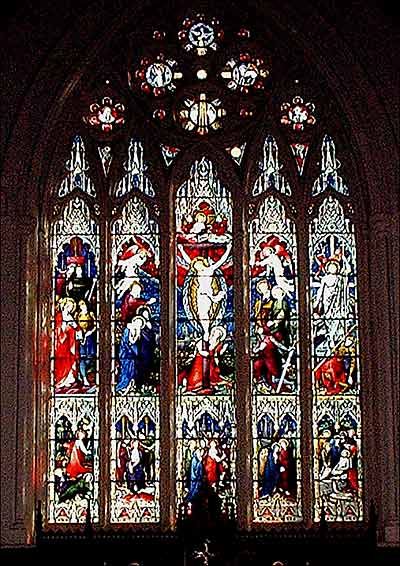 Photogph of the stained glass East Window