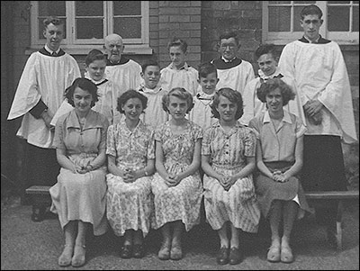 Choir in 1952 at the rear of the Mission Room