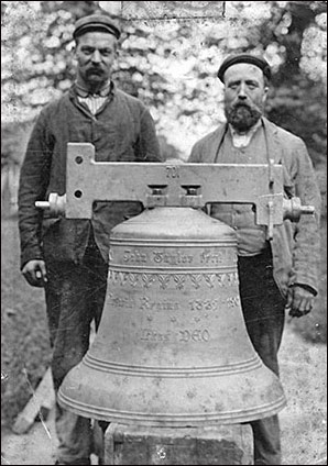 Photograph of the new bell in 1903 commemorating the reign of Queen Victoria 1837-1901 - cost £62 7s 11d
