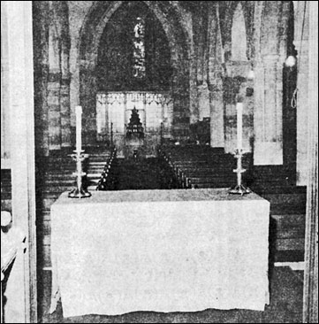 Phogtograph showing the new-style altar built in the nave by Mr Maurice Patrick