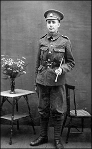 Ronald Williamson Sharpley, future Rector of Burton Latimer, at the outbreak of the First World War.