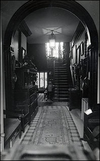 The Rectory entrance hall and staircase.