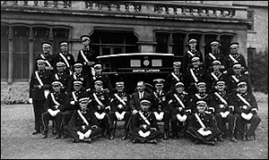 St John Ambulancemen at the Rectory in 1935