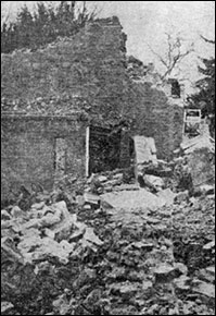 The Rectory reduced to a site of rubble.