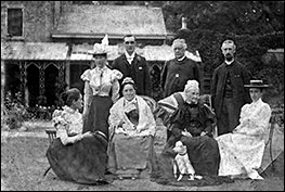 Revd. Newman with family & friends in the rear garden - 1890s