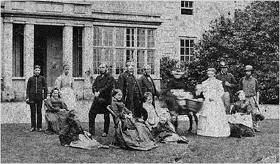 The Newman family with its domestic staff in the 1870s