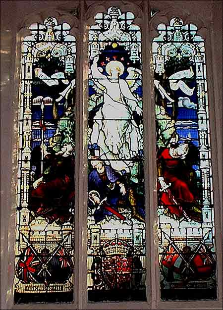 Photograph of the stained glass South aisle window