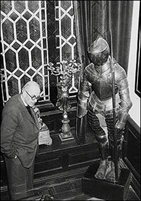 Suit of armour - known as Horace - to the Rector