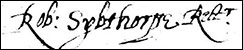 Robert Sybthorpe's signature
