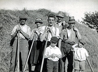 Percy & Alice Herbert with their haymaking team
