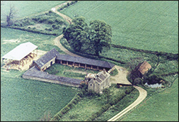 aerial view of Glendon Farm, also known as Glendon Lodge