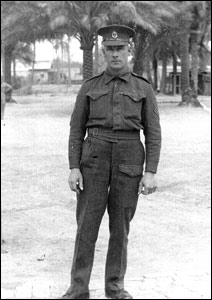 George Thurlow as a Military Policeman in Bagdhad 1945