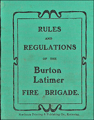 Front cover of Fire Brigade Regulations 1905