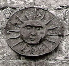 A Sun Fire Insurance mark in Church Street