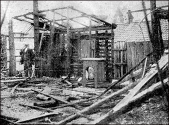 Aftermath of the Pavilion fire in 1923