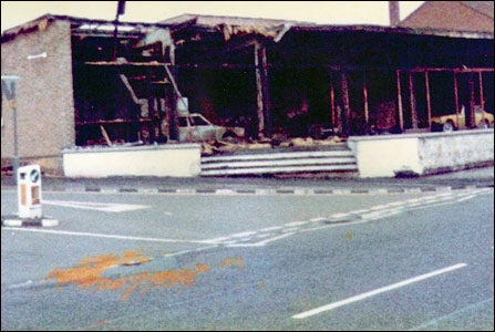 Pole Position Cars after the fire in 1983