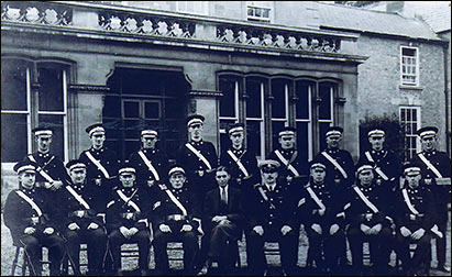 Dr A P Kingsley with the St John Ambulance Brigade photographed outside the Rectory in early 1930s