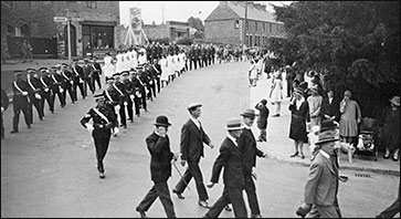 Members of St John Ambulance Brigade marching from High Street into Church Street c 1930