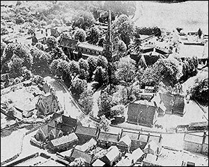 Aerial view of the two Church Schools taken in 1953