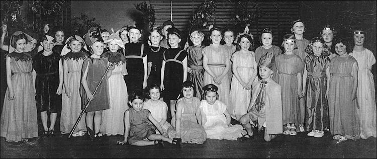 "Infants School members of the cast of ""Persephone and King Pluto"" 1954"