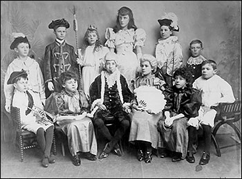 Pictures  of Cinderella Pantomime performed by the Church School c 1899