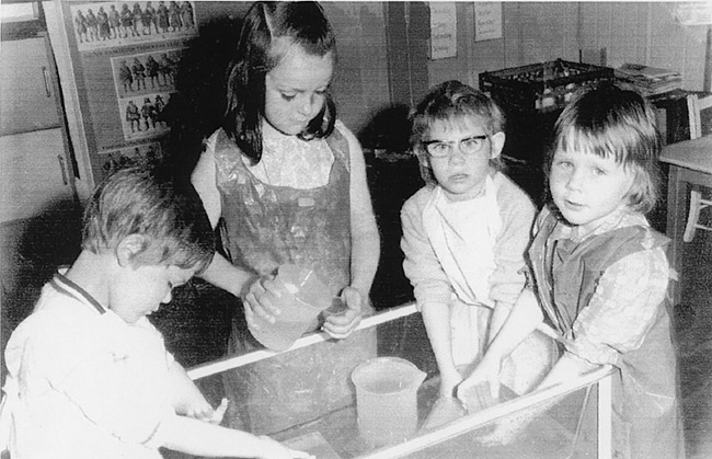 East Lea St Mary's School - a classroom scene from 1972