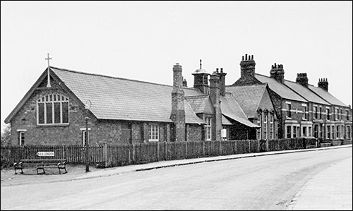 Mission Room in 1958 showing original location of Finedon Road Infants School