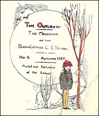 "Frontespiece of issue 4 of ""The Outlook"", published in Autumn 1927"