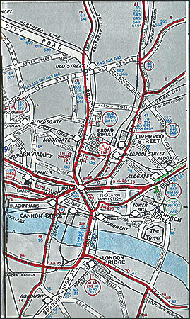 Map for St Mary's school trip to London