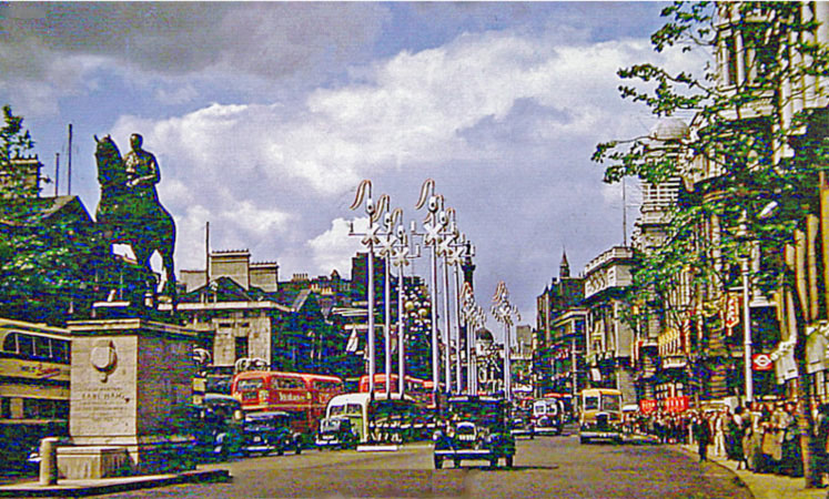Whitehall's Coronation decorations