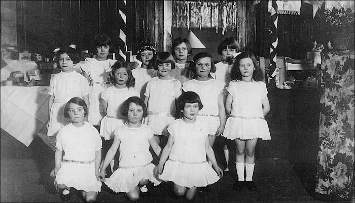 St Mary's Church Infants School Pupils 1928 - Putting on a show at the Church Bazaar