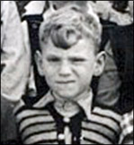 Trevor Cooper at Burton Latimer Infants School, c.1957