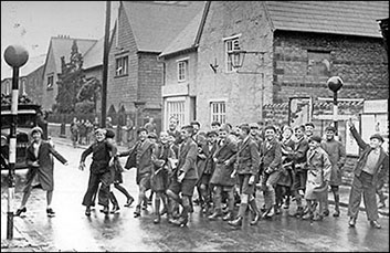 Photograph of Council School Juniors on Belisha Beacon Crossing 1939