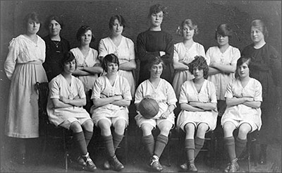 Photograph showing Coles Boot Ladies Football Team