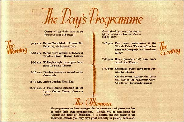Programme of events for the 50th Anniversary
