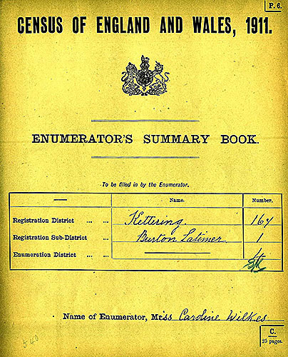 Enumerator's Summary Book 1911