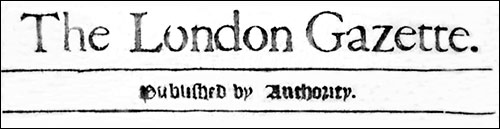 Banner title of The London Gazette