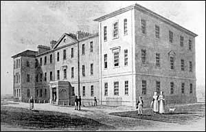 A view of Northampton Infirmary in 1831