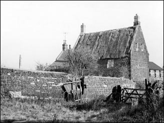 Rear view of the house from the fields