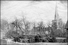 Burton Latimer Church and School in the 1880s