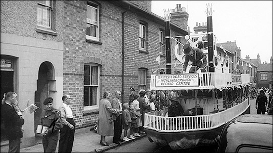 Carnival float in Duke Street in the 1950s
