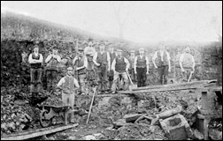 Ironstone workers in the 1880s