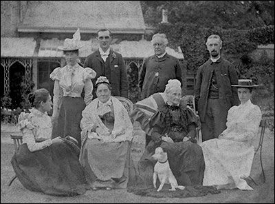 The Reverend Newman and his family in the grounds of the rectory sometime in the 1890s.